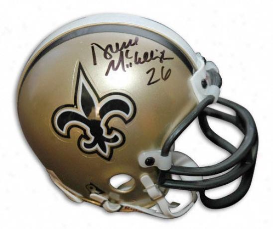 Deuce Mcallister New Orleans Saints Autographec Mini Helm