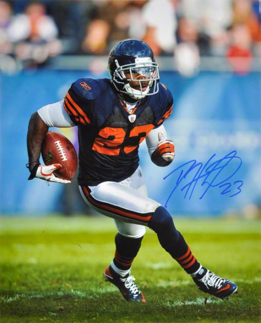Devin Heser Autographed 16x20 Photograph  Details: Chicago Bears, Vertical, Running