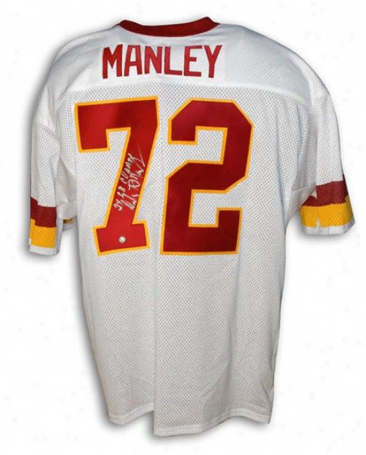 Dexter Manley Autographed Thr0wback Jersey
