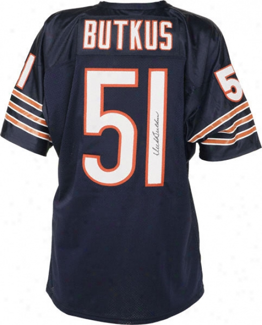 Dick Butkus Autographed Jersey  Details: Chicago Bears, Home