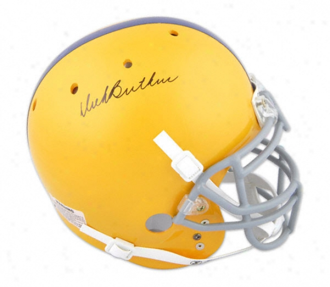 Dick Butkus Autographed Pro-line Helm  Detailz: Chicago Vocational High Sect, Sfhutt Helmet