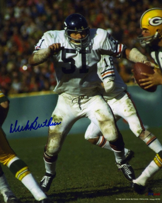 Dick Butkus Chicago Bears 8x10 Autograpyed Photograph