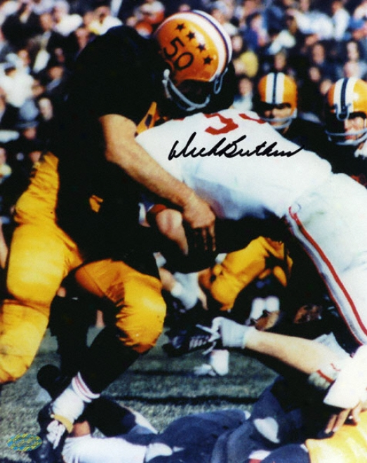 Dick Butkus Illinois Fighting Illini - Tackling In Blue Jersey - 8x10 Autographed Phot0graph
