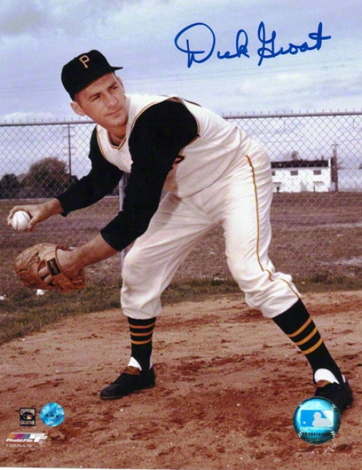 Dick Groat Pittsburgh Pirates Autographed 8x10 Photo Throwing