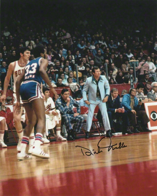 Dick Motta Chicago Bulls - Sideljne - Autographed 8x10 Photograph