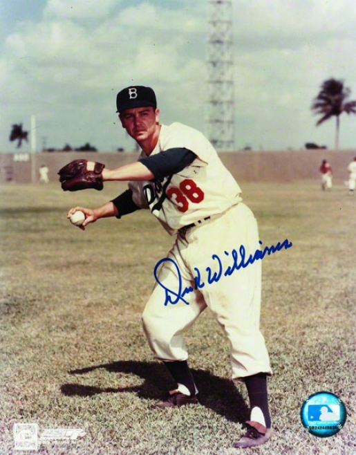 Dick Williams Brooklyn Dodgers Autographed 8x10 Photo