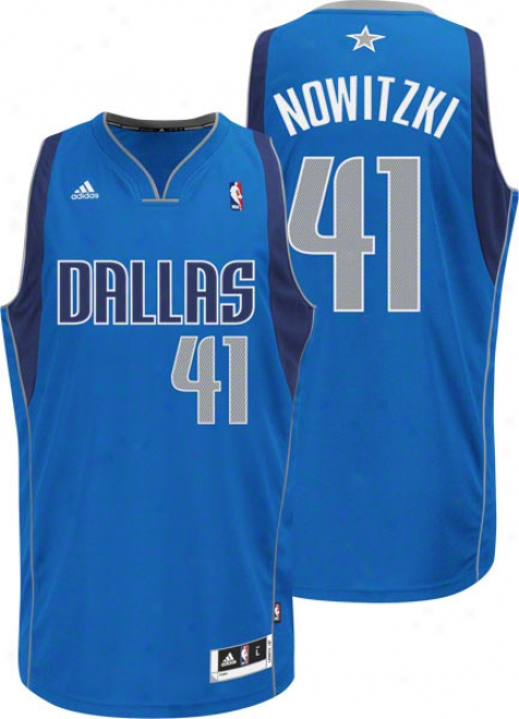 Dirk Nowitzki Blue Adidas Revolution 30 Swingman Dallas Ma\/ericks Jersey