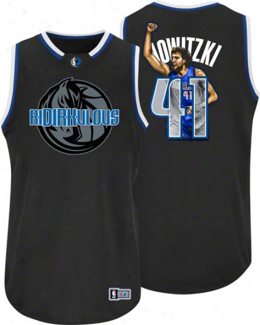 Dirk Nowitzki Dallas Mavericks Majestic Notorious Jersey