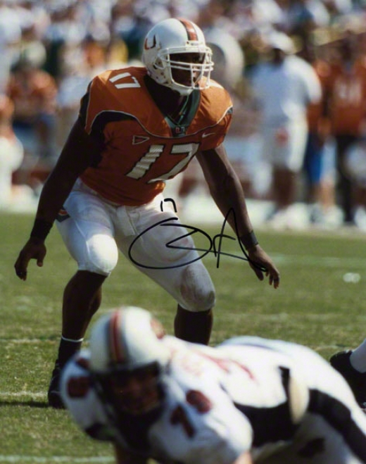 D.j. Williams Autographed Photograph  Details: Miami Hurricwnes, 8x10