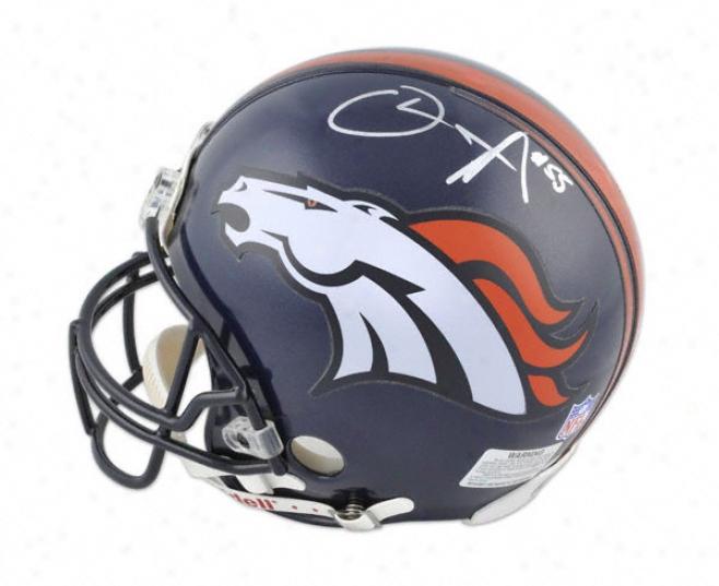 D.j. Williams Autographed Pro-line Helmet  Details: Denver Broncos, Autnentic Riddell Helmet