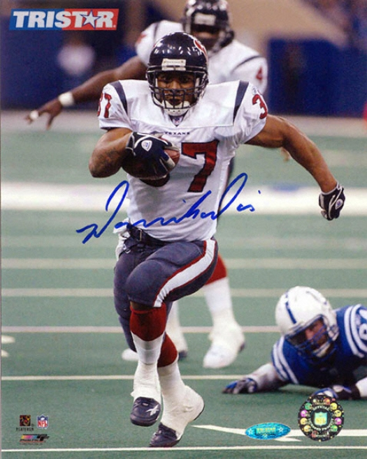 Domanick Davis Autographed Houston Texans 8x10 Photo