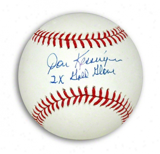 Don Kessinger Autographed Mlb Baseball Inscribed &quot2x Gold Glove&quot