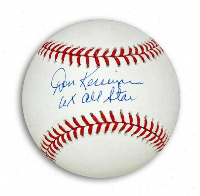 Don Kessinger Autographed Mlb Baseball Inscribed &quot6x All Star&quot