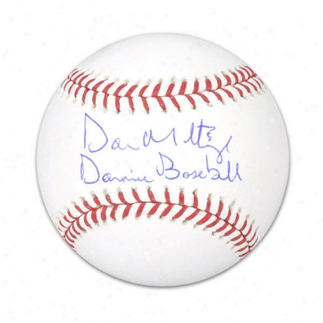 Don Mattingly Autographed Baseball  Details: Donnie Baseball Inscription