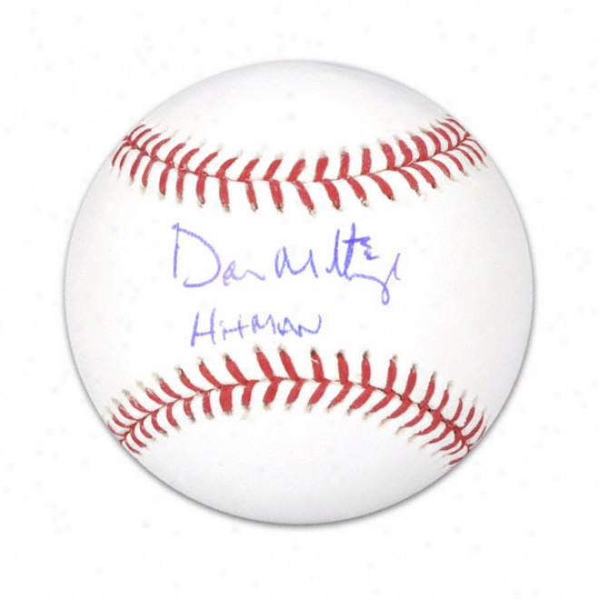 Put on Mattingly Autographed Baseball  Details: Hitman Inscription