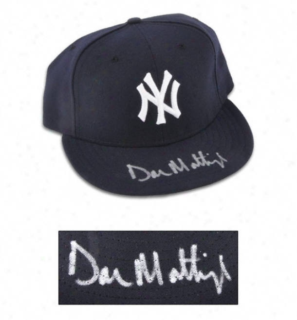 Put on Matgingly New York Yankees Autographed New Epoch Cap