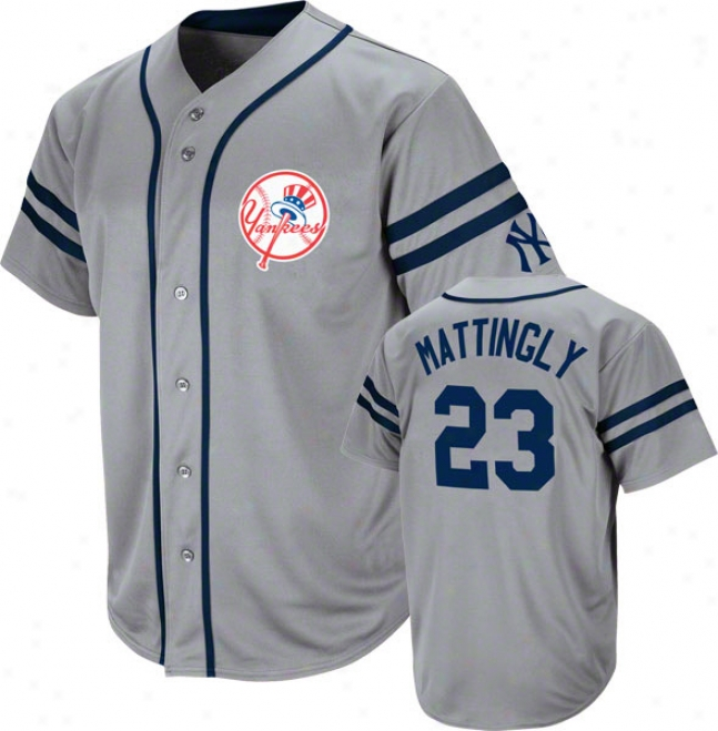 Don Mattingly New York Yankees Cooperstown Grey Heater Fashion Je5sey