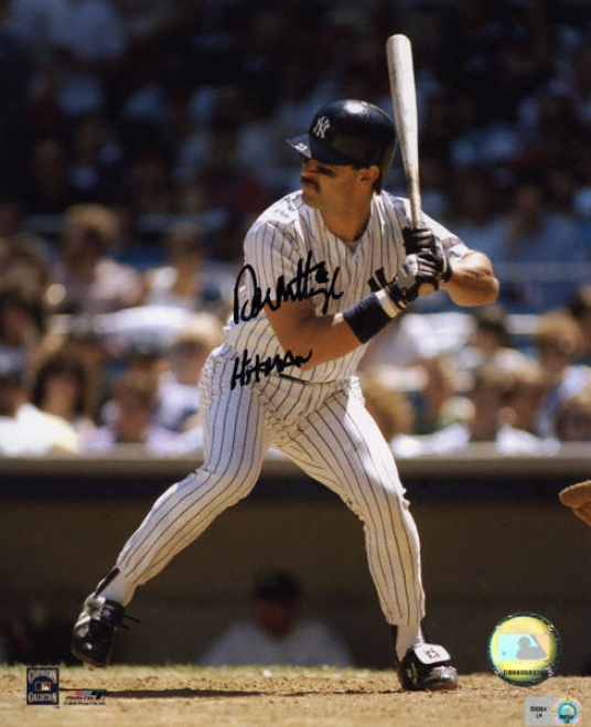 Put on Mattingly New York Yankees Hitman 8x10 Autographed Photogrsph