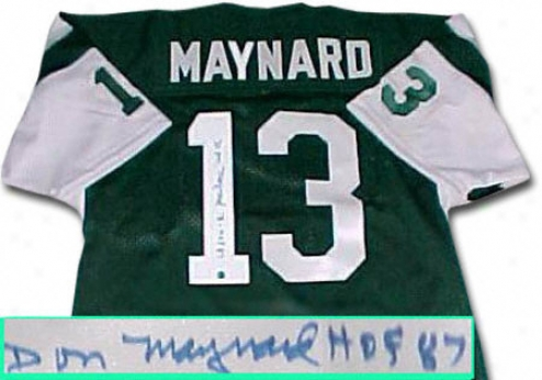 Don Maynard New York Jets Autographwd Throwback Green Jersey