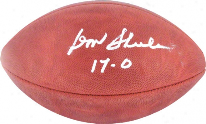 Don Shula Autographed Football  Details: Miami Dolphins, Pro Football, 17-0 Inscription