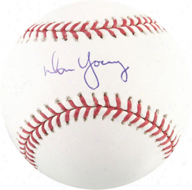 Don Young Autographed Baseball