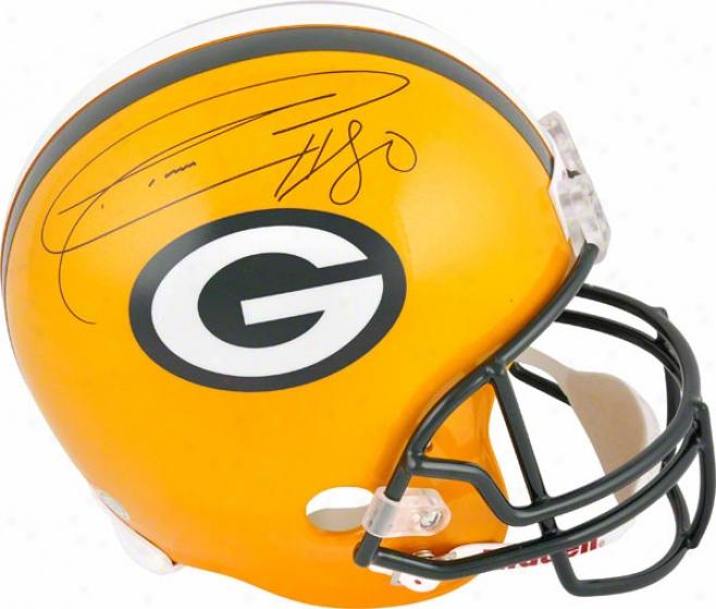 Donald Driver Autographdd Helmet  Details: Replica, Green Bay Packers