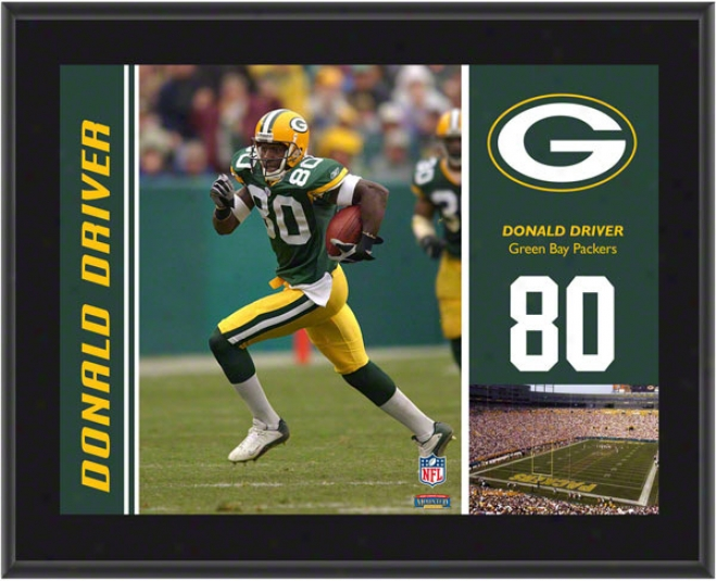 Donald Driver Plaque  Details: Green Bay Packers , Sublimated, 10x13, Nfl Plaque