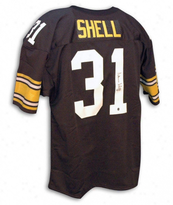 Donnie Shell Autographed Black Throwback Jersey