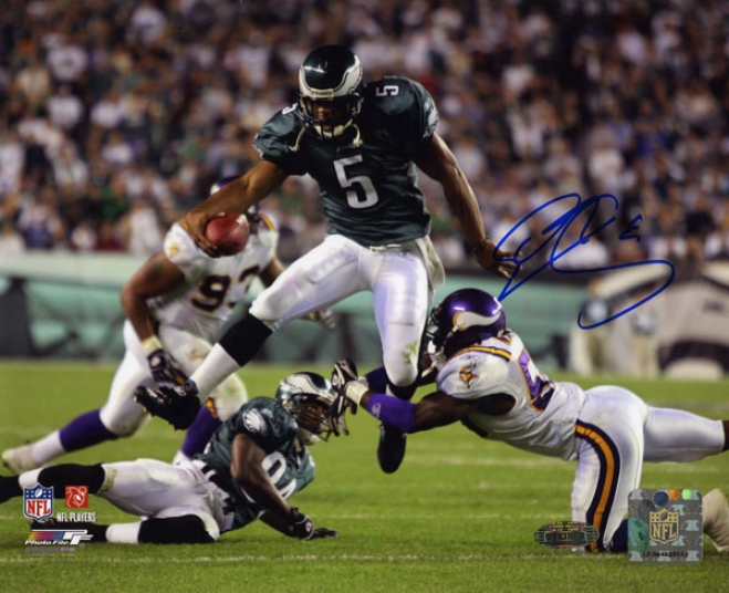 Donovan Mc Nabb Philadelphia Eagles - Vs. Vikings - Autographed 8x10 Photograph