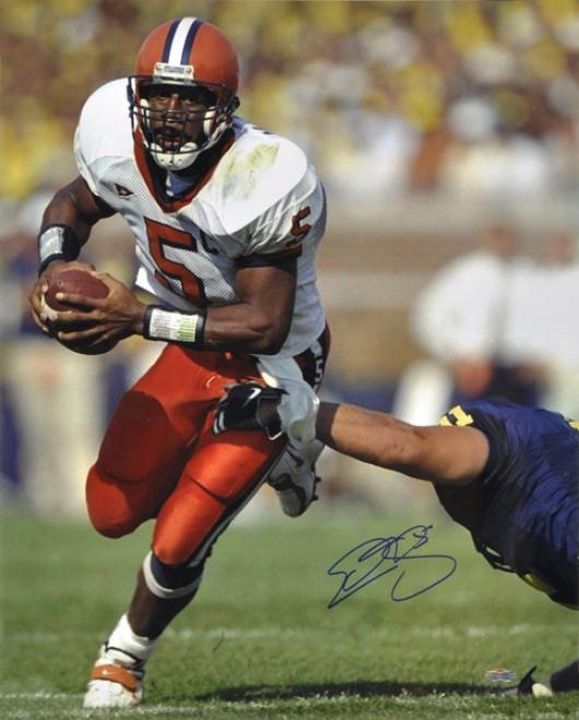 Dobovan Mcnabb Syracuse Orange Autogrzphed 16x20 Photo