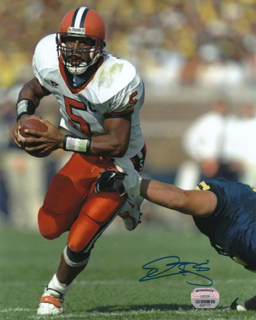 Donovan Mcnabb Syracuse Orange Autographed 8x10 Photo