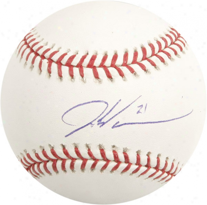 Dontrelle Willis Autographed Baseball  Details: #21 Inscription