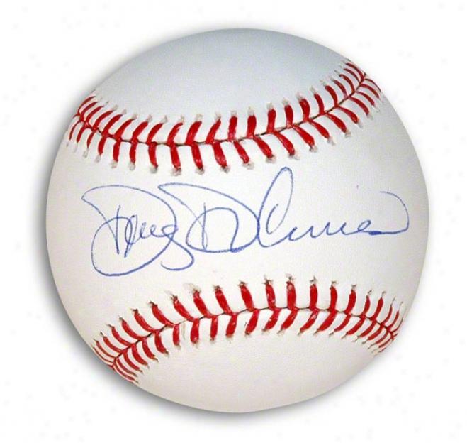 Doug Decuncss Autographed Mlb Baseball