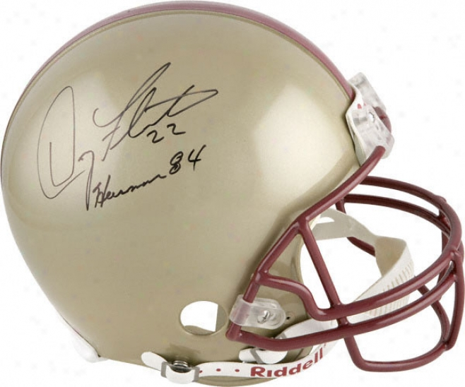 Doug Flutie Auotgraphed Helmet  Details: Boston College Eagles, Authentic Riddell Helmet, With Inscription &quotheisman 84&quot