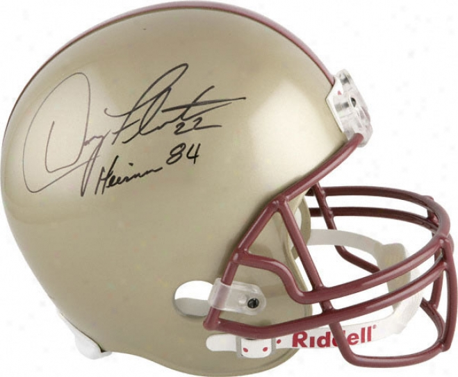 Doug Flutie Autographed Helmet  Particulars: Boston Society Eagles, With Inscription &quotheiaman 84&quot, Riddell Replica Helmet