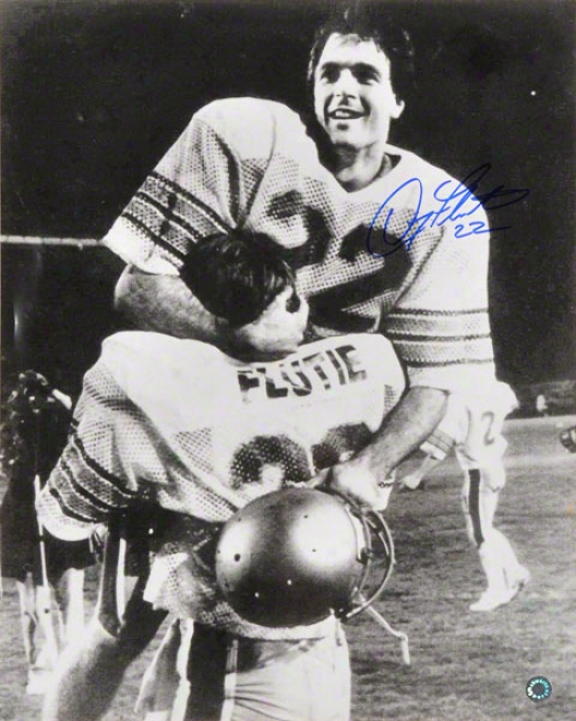 Doug Flutie Boston College Eagle Autographed 16x20 In Brothers Arms Celebration Photo