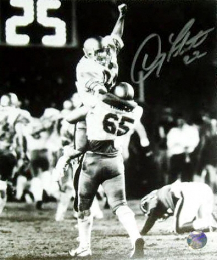 Doug Flutie Boston College Eagles 1984 Hail Mary Celebration 8x10 Autographed Black And White Photograpph
