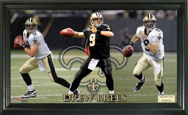 Drew Brees New Orleans Saints Gridiron Ace 12x20 Frame