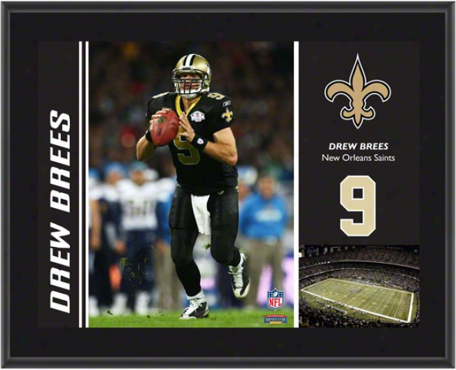 Drew Brees Plaque  Details: New Orleans Saints, Sublimated, 10x13, Nfl Plaque