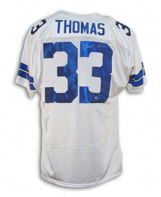 Duane Thomas Autographed Dallas Cowboys White Throwback Jersey