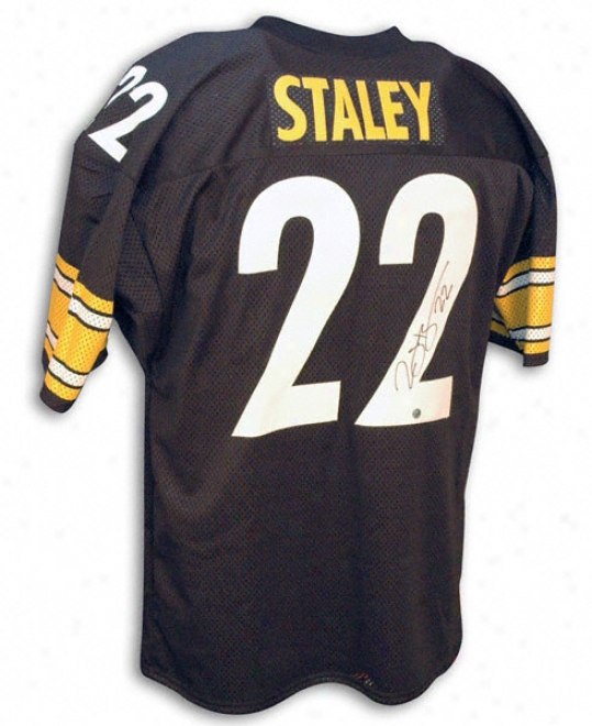 Duce Staley Autographed Black Throwback Jersey