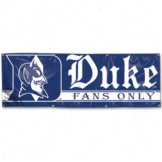 Duke Blue Devils 2x6 Vinyl Flag