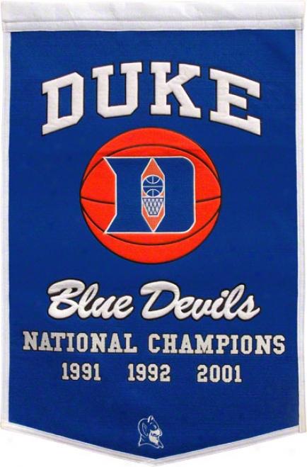 Duke Blue Devils Commemorative Banner