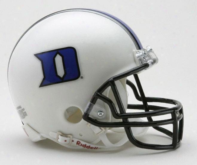DukeB lue Devils Riddell Mini Helmet