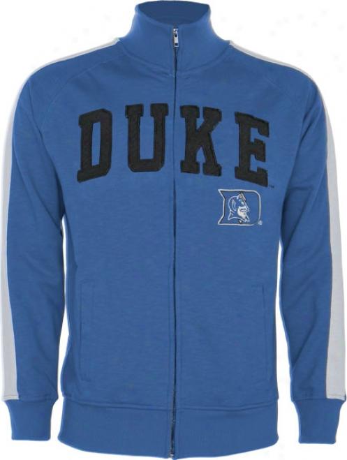 Duke Blue Devils Royal Pinnacle Slub French Terry Track Jacket
