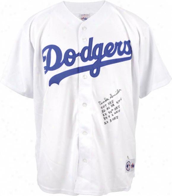 Duke Snider Autographed Jersey  Details: Brooklyn Dodgers, 5 Inscriptions