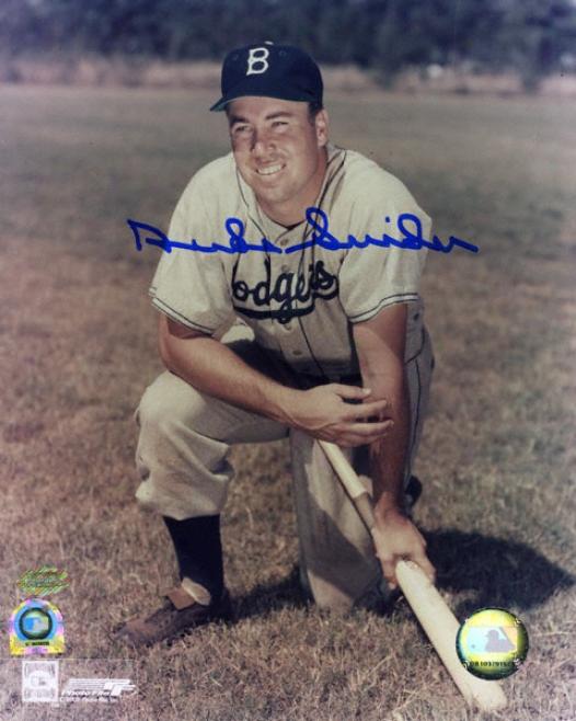 Duke Snider Brooklyn Dodgers 8x10 Autographed Photograph With Edwin Donald Snider Inscrription