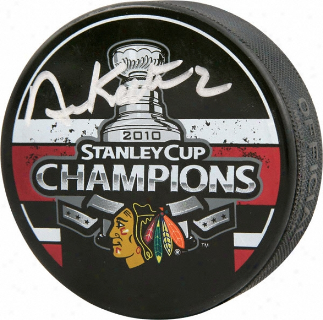 Duncan Keith Chicago Blackhawks Autographec 2010 Stanley Cup Champions Puck