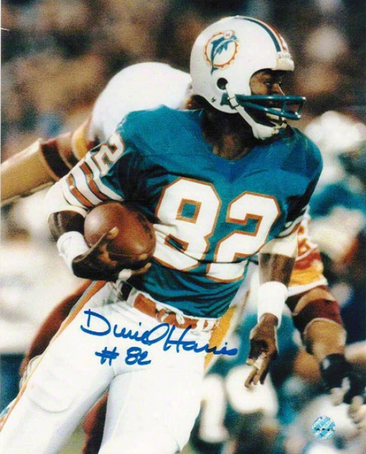 Durirl Harris Autographed Miami Dolphins 8x10 Photo