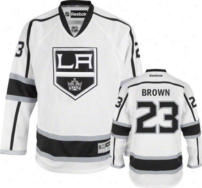 Dustin Brown Jersey: Reebok White #23 Los Angeles Kings Premier Jersey